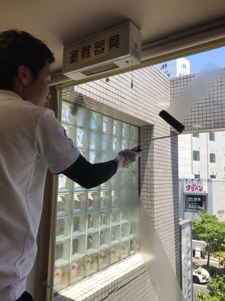 千種区 美容院様 ガラス断熱塗装 (5)
