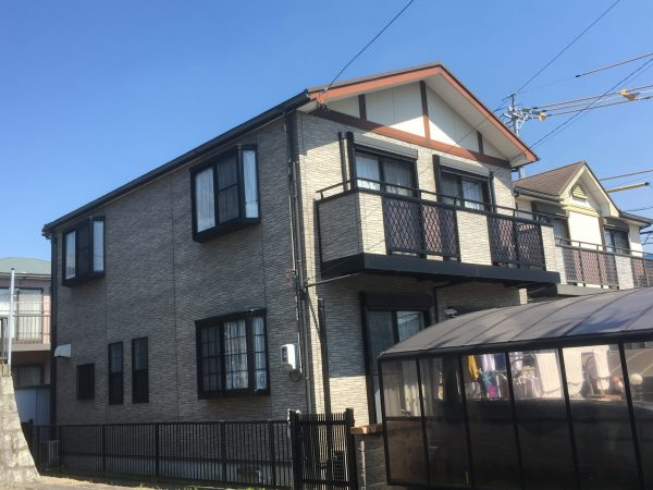 知多市にしの台 外壁屋根塗装工事 (3)