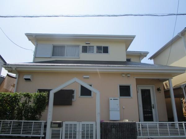美浜町H様邸 外壁・屋根塗装工事 (1)
