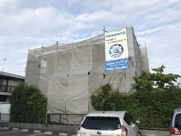 知多市にて屋根 付帯部塗装工事 着工致しました (1)