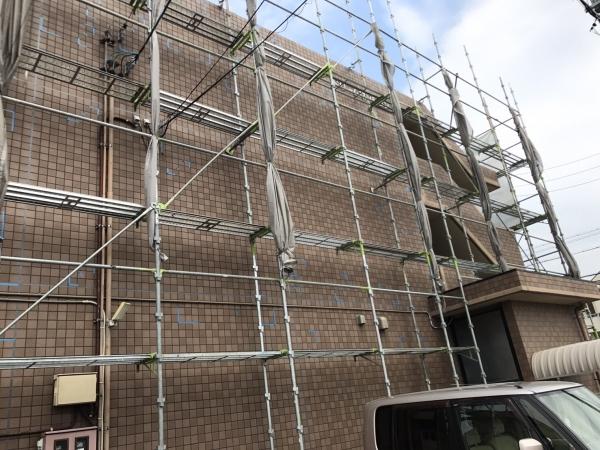 美浜町 Dマンション様 外壁塗装、屋上防水 着工しました。 (4)