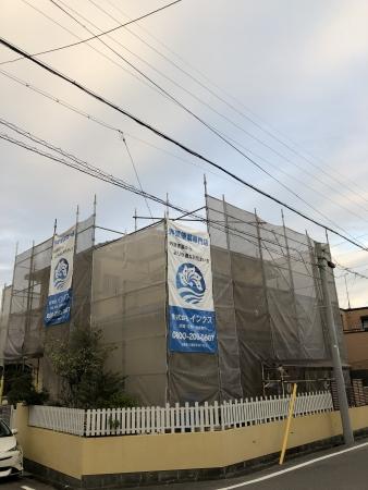 知多市 A様邸 外壁・屋根塗装 雨樋取替工事 着工致しました