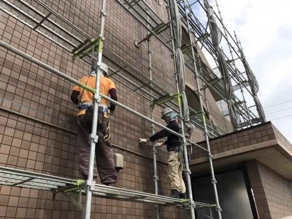 美浜町 Dマンション様 外壁塗装、屋上防水 着工しました。 (3)