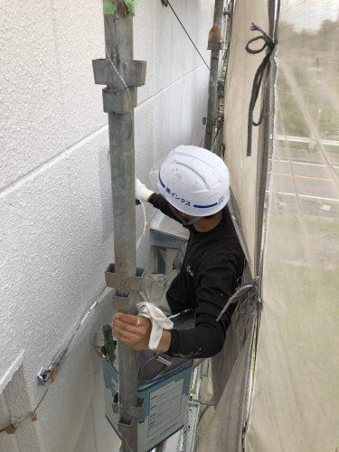 知多市 アパート 外壁塗装工事 (2)
