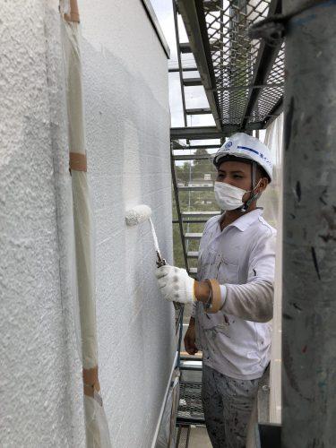 知多市 アパート 外壁塗装工事 (1)