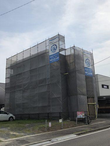 知多市八幡新町 アパート 外壁塗装・屋上防水改修工事 着工しました!! (2)