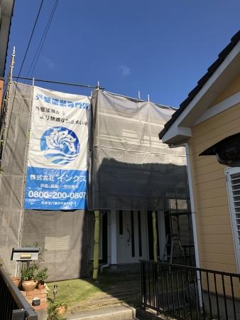知多市 A様邸 外壁塗装、ベランダ防水、屋根補修工事 (1)